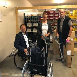 The Medux firm in Utrecht made a big donation in kind.