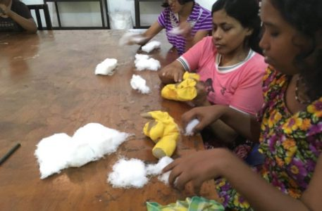 Soft-toys and paper jewelry training for girls / ladies