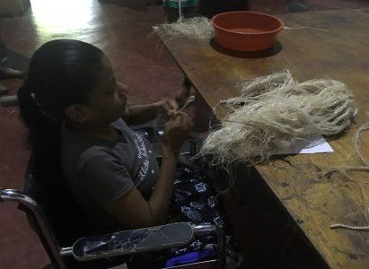 Bananenpulp fiber training voor meisjes